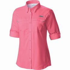 Columbia Women's Low Drag Long Sleeve Shirt Lollipop XS, Lollipop, bcf_hi-res