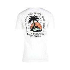 Tide Apparel Mens Paradise Short Sleeve Tee White S, White, bcf_hi-res