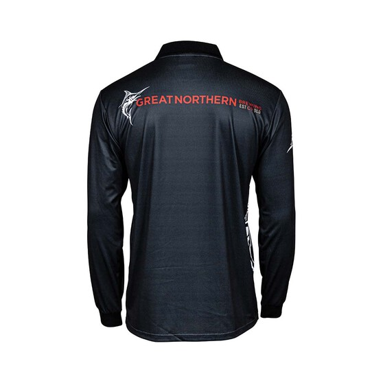 The Great Northern Men's Sublimated Polo, Dark Grey, bcf_hi-res
