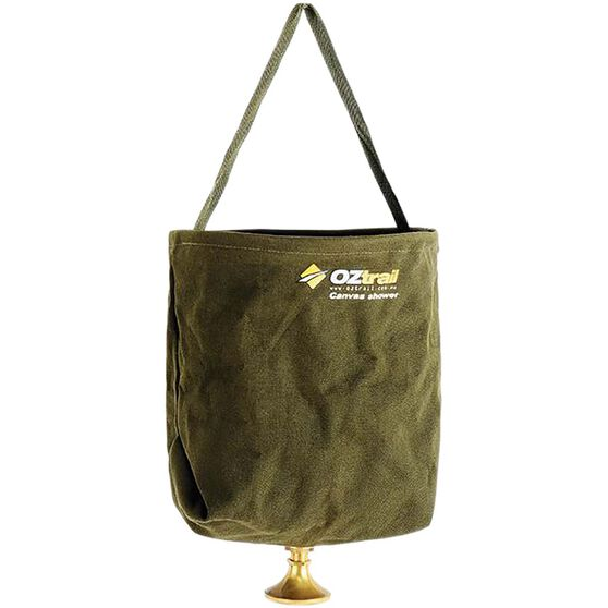 OZtrail Canvas Bucket Shower, , bcf_hi-res