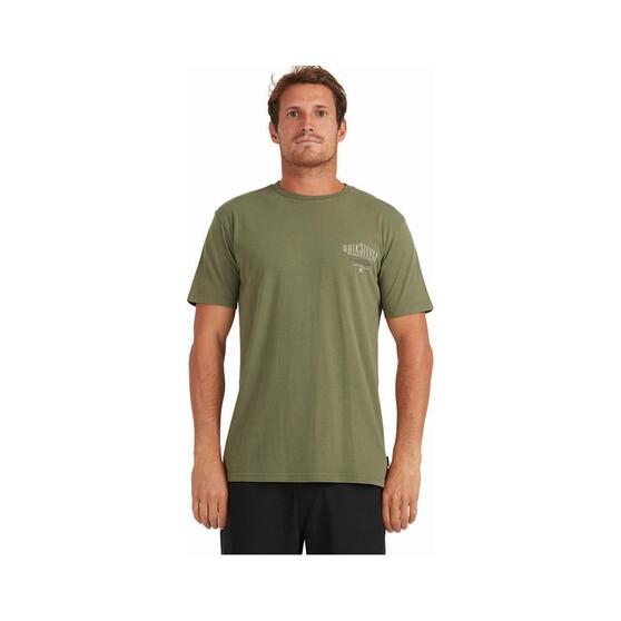 Quiksilver Waterman Men's Mini Wahoo Short Sleeve Tee, Green, bcf_hi-res