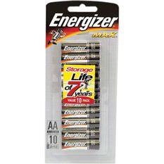 Energizer Max AA Batteries - 10 Pack, , bcf_hi-res