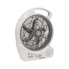 Companion 10in Rechargable Fan With Radio, , bcf_hi-res