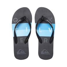 Quiksilver Waterman Men's Molokai Aussie Block Thongs Black / Blue 8, Black / Blue, bcf_hi-res
