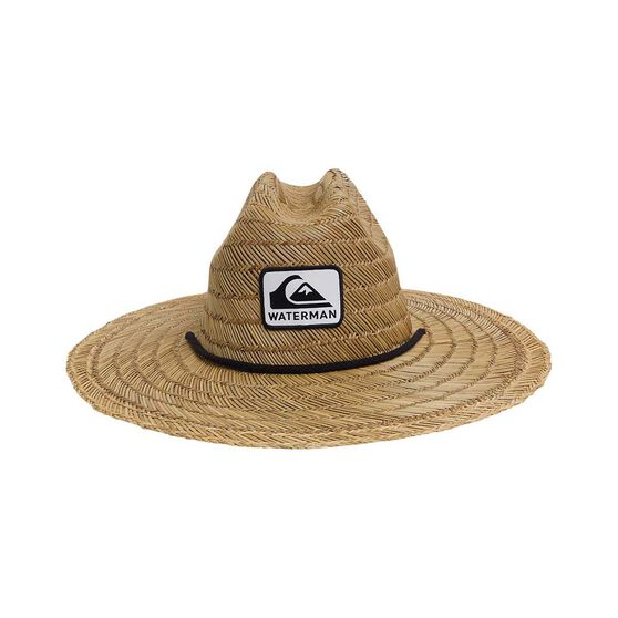 Quiksilver Waterman Men's The Tier Straw Hat, Natural, bcf_hi-res