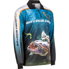 Savage Men's Flathead Sublimated Polo Storm L, Storm, bcf_hi-res