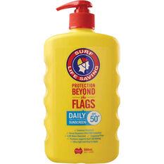 Surf Life Saving SPF50+ Daily Pump Sunscreen 500ml, , bcf_hi-res