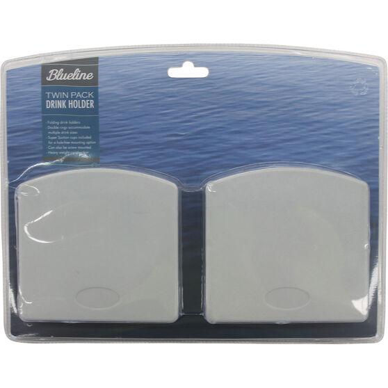 Blueline Folding Drink Holder Twin Pack, , bcf_hi-res