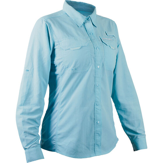 Shimano Women's Vented Long Sleeve Shirt, Aqua, bcf_hi-res