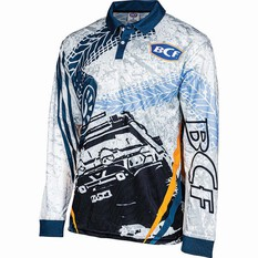 BCF 4WD Men's Sublimated Polo White S, White, bcf_hi-res