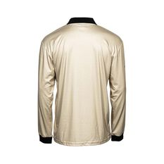 The Great Northern Brewing Co Men's Traditional Sublimated Polo, Dark Sand, bcf_hi-res