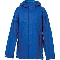 OUTRAK Kids' Packaway Rain Jacket Blue 4, Blue, bcf_hi-res
