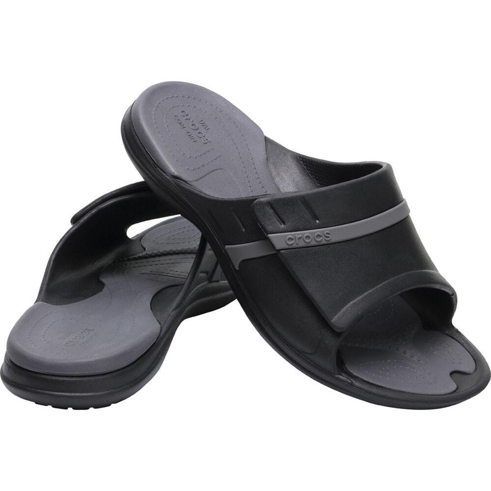 850f6c6b6140 Crocs Men s Modi Sport Slide Black   Graphite 8
