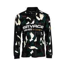 Savage Gear Men's Squad Camo Sublimated Polo Camo S, Camo, bcf_hi-res