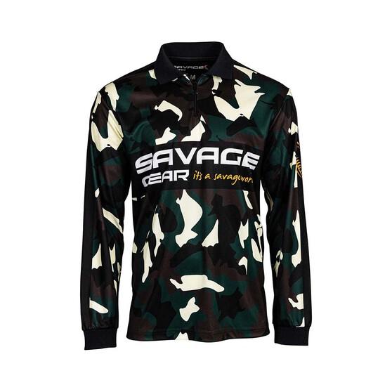 Savage Gear Men's Squad Camo Sublimated Polo, Camo, bcf_hi-res