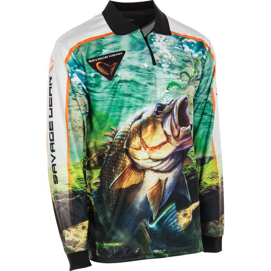 Savage Men's Aus Bass Sublimated Polo Green L, Green, bcf_hi-res