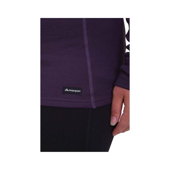 Macpac Women's Geothermal Long Sleeve, Nightshade, bcf_hi-res