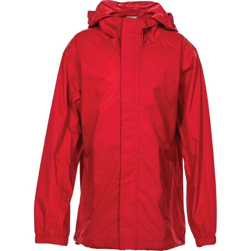 a15ee8138 OUTRAK Kids  Packaway Rain Jacket Red 4