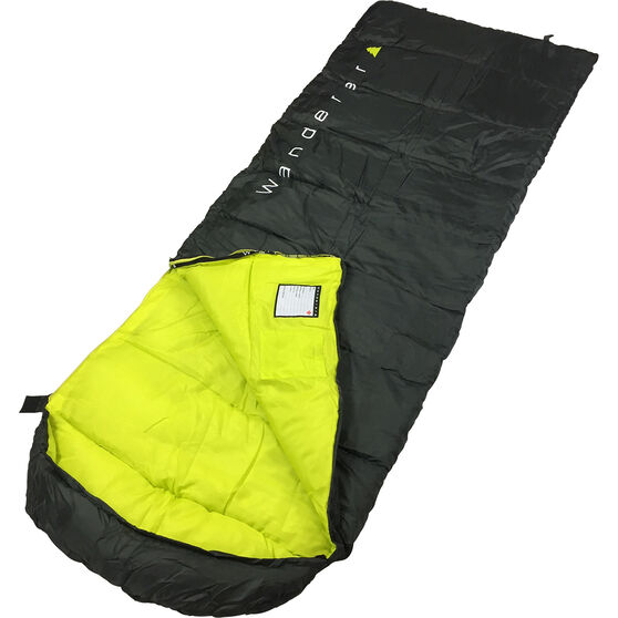 Wanderer Singe Hooded Sleeping Bag, , bcf_hi-res