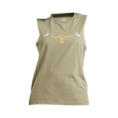The Mad Hueys Women's Anchorheart UV Muscle Tee Dusty Olive XS, Dusty Olive, bcf_hi-res