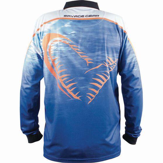 Savage Men's Snapper Sublimated Polo Blue M, Blue, bcf_hi-res