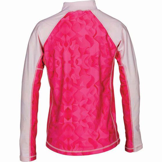 Kids' Long Sleeve Swirl Rashie Pink 12, Pink, bcf_hi-res