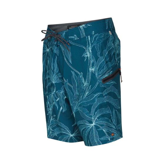 Quiksilver Waterman Men's Paddler Print Boardies, Delphinium Blue, bcf_hi-res