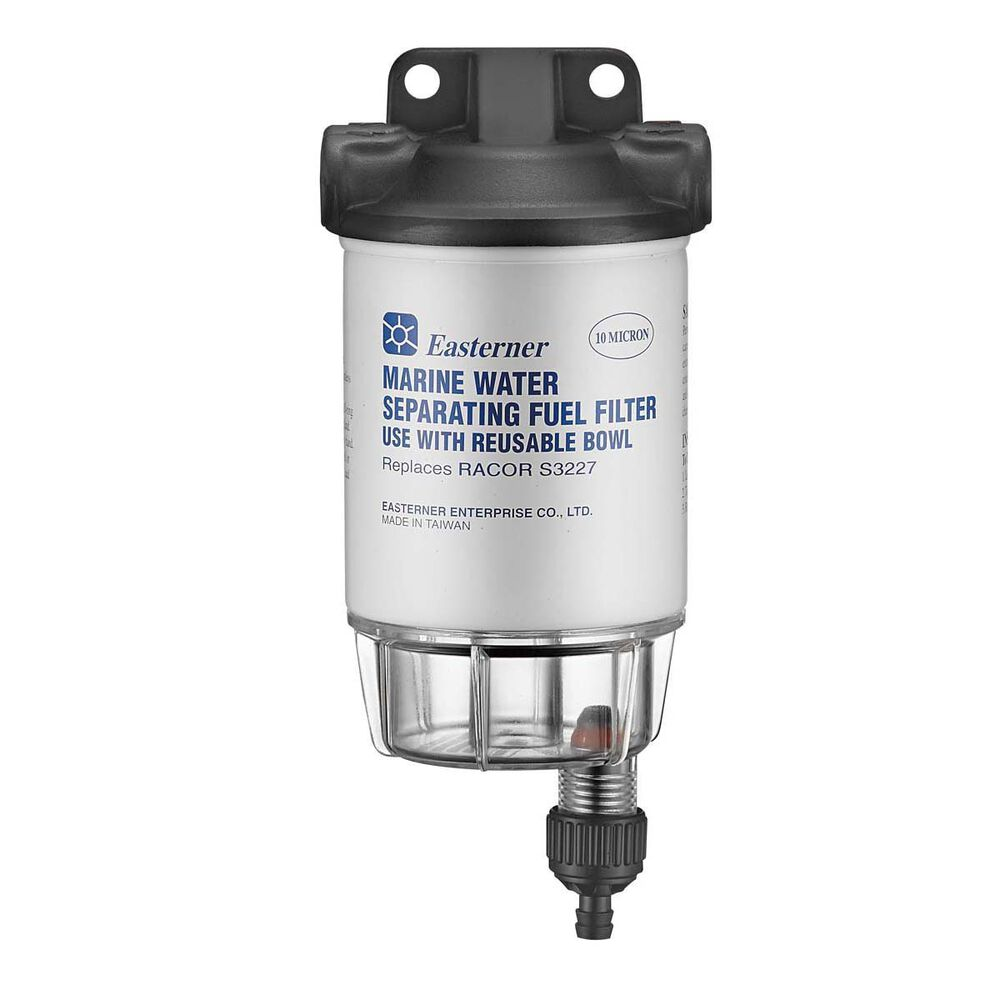 Eastener Water Separating Fuel Filter With Clear Bowl Bcf Inline Hi Res