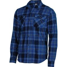 OUTRAK Men's Flannel Shirt Navy S, Navy, bcf_hi-res