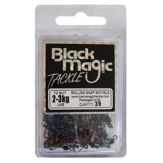 Black Magic Rolling Snap Swivel 39 Pack, , bcf_hi-res