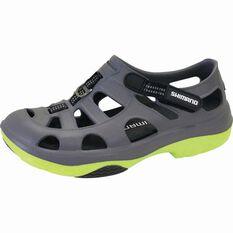 Shimano Men's Evair Aqua Shoes Grey / Green 8, Grey / Green, bcf_hi-res