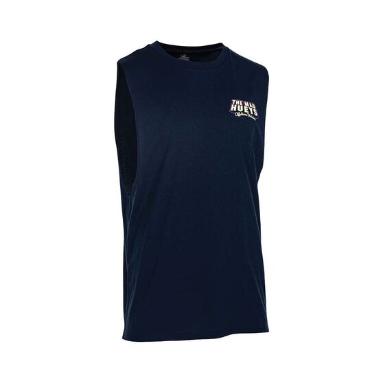The Mad Hueys Men's Day Off UV Muscle Tank, Navy, bcf_hi-res