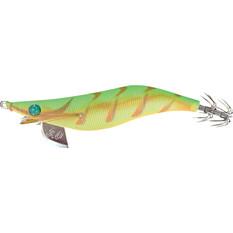 Yamashita Egi Sutte-R Squid Jig 3.5in Green Tiger Glow, Green Tiger Glow, bcf_hi-res