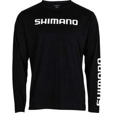 Shimano Men's Long Sleeve Tee Black/White S, , bcf_hi-res