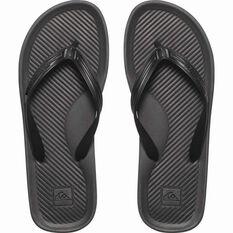 Men's Haleiwa Thongs Black 8, Black, bcf_hi-res