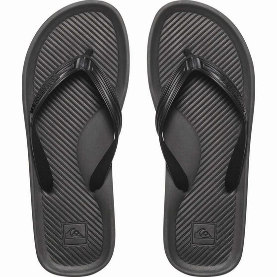 Quiksilver Men's Haleiwa Thongs Black 11, Black, bcf_hi-res