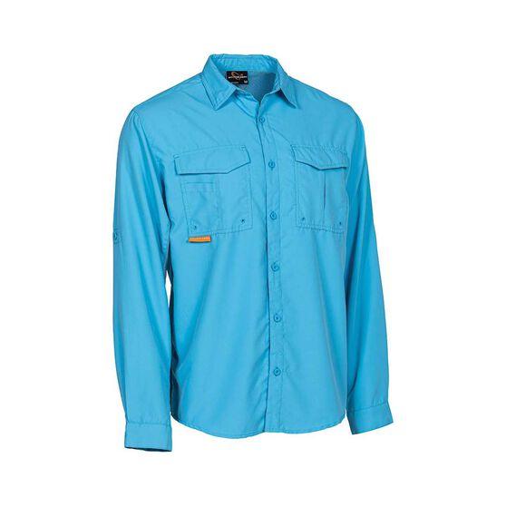 Savage Men's Long Sleeve Fishing Shirt, Blue, bcf_hi-res