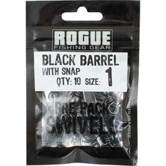 Rogue Black Barrel Snap Swivel 10 Pack, , bcf_hi-res