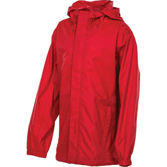 OUTRAK Kids' Packaway Rain Jacket, Red, bcf_hi-res