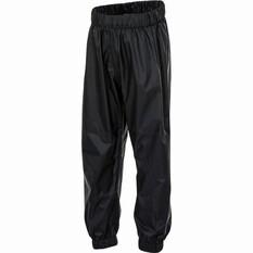 OUTRAK Kids' Packaway Rain Pants Black S, Black, bcf_hi-res