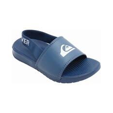Quiksilver Kids Bright Coast Adjust Backstrap Slide Blue / White C8, Blue / White, bcf_hi-res