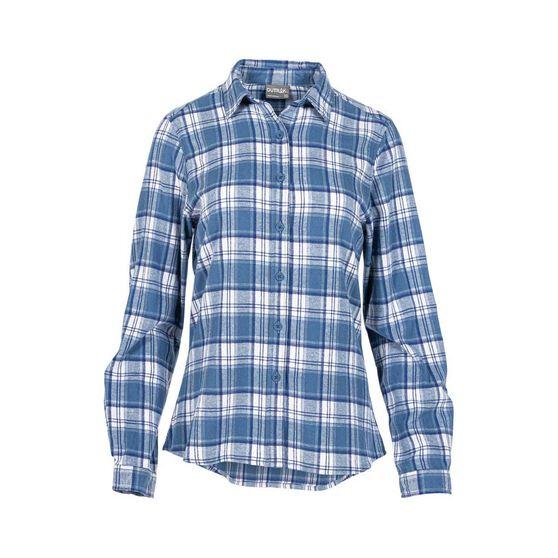 OUTRAK Women's Yarn Dye Flannel Shirt Purple / Blue 16, , bcf_hi-res