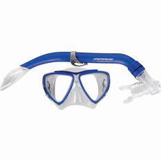 Junior Turtle Mask and Snorkel Set Blue, Blue, bcf_hi-res