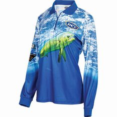 BCF Women's Mahi Sublimated Polo Blue 8, Blue, bcf_hi-res