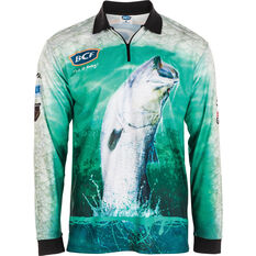 BCF Men's Barra Jump Sublimated Polo Green S, Green, bcf_hi-res