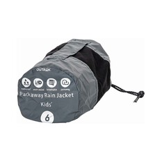 OUTRAK Kids' Packaway Rain Jacket Iron Gate 4, Iron Gate, bcf_hi-res