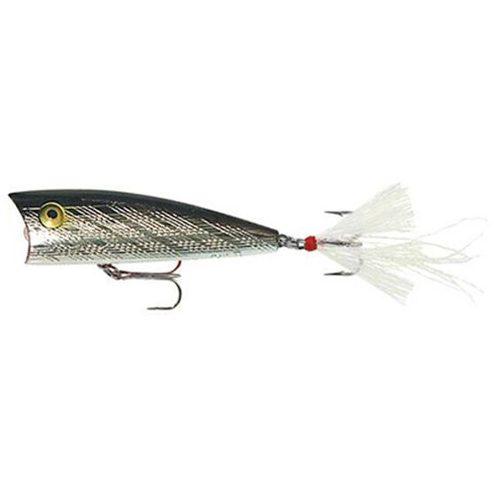 Teeney Pop-R Surface Lure 2in Silver Black, Silver Black, bcf_hi-res