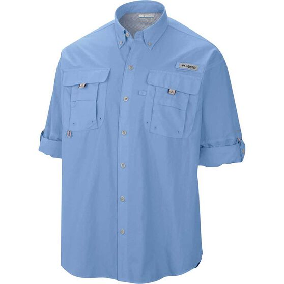 Columbia Men's Long Sleeve Bahama II Fishing Shirt, Sail, bcf_hi-res