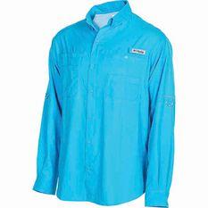 Columbia Men's Tamiami II Long Sleeve Shirt Riptide S, Riptide, bcf_hi-res