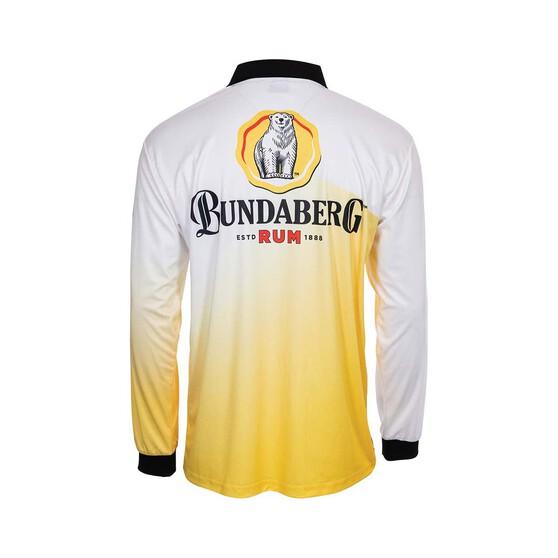 Bundaberg Rum Men's Gradient Sublimated Polo Yellow XL, Yellow, bcf_hi-res